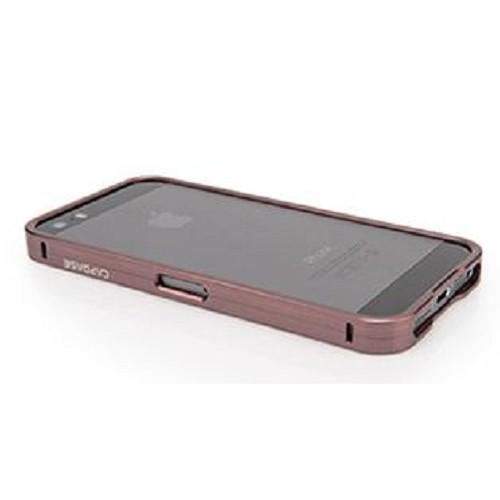 CAPDASE Alumor Bumper Case for Apple iPhone 5/5S [MBIH5-00WW] - Titanium - Casing Handphone / Case